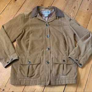 LL BEAN corduroy chore jacket